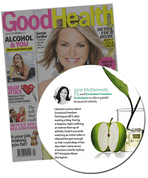 EFT Tapping as featured in Good Health Magazine April 2014